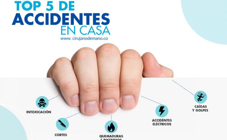 Top 5 de accidentes en casa